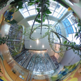 "Here is the ""Winter Garden"" on the 5th floor of the John R. Oishei Children's Hospital located next to the Family Resource Center.  This space provides respite for families and patients. #theta360"