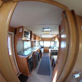 Compass Rallye 524 2008 - bathroom and living area 360. Just £5995 #caravanforsale https://pirancaravansales.co.uk/53-compass-rallye-524