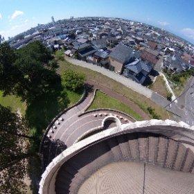 新潟市大山台公園展望台からシータ #theta360