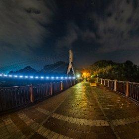 旧秩父橋 #あの花 #theta360