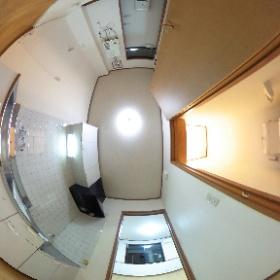 コンフォート富士103 キッチン・トイレ #theta360