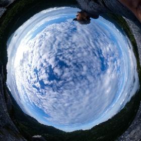 黒味岳山頂 あたりに雲海が広がっている  屋久島を自由に旅する GREEN MOUNT  #theta360
