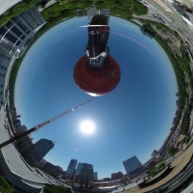 360 Photo Sphere crane 'ball' arial view high above @ATLTechVillage roof today #theta360