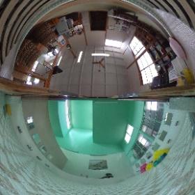 新潟市東区秋葉湯 浴室と脱衣場の間に。 #新潟 #銭湯 #theta360