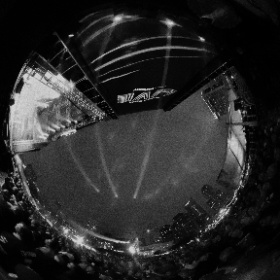 An alternate/monochromatic version of my view from the main stage at Super Bowl Live during ZZ Top's epic headlining set at Discovery Green in Houston, Texas. #SuperBowlLI #ZZTop #Houston #Texas #theta360