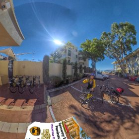 SpinwayWA bike hire station @ Peninsula on the Esplanade South Perth Swan river foreshore, no hills lots of thrills, SM hub https://linkfox.io/xbZLa BEST HASHTAGS  #SpinwayKingsSouthPerth  #SouthPerth   #VisitPerthWA   #Butterfly3d #theta360