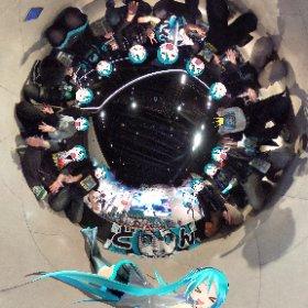 ダヨーさんとミクさんとダヨラーで100人以上いるMIKUTHETAギネス記録かも?www #ダヨチャレ #miku360 #theta360