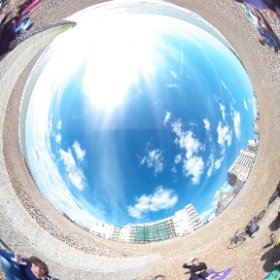 Equinox sea swimmers, Hove, 23 Sept 2015 #theta360