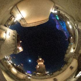 夜のフォートレスエクスプロレーション。 #TDR全天球画像