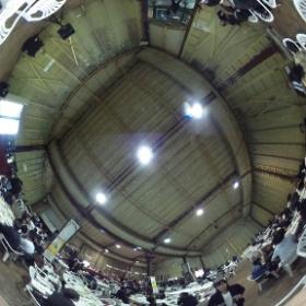 瓦町フラッグ屋上のビアガーデン、プレオープン #theta360