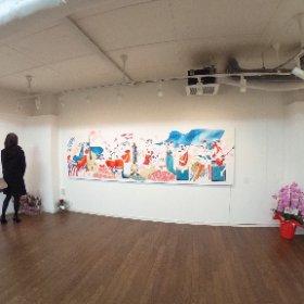 Siouxさんの個展「明滅する色の結晶」(Artcomplex Center of Tokyo)にて #theta360