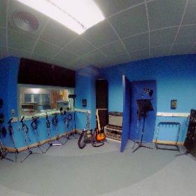 Sala de grabación (Sala B) de los Estudios Séptimo Cielo #theta360
