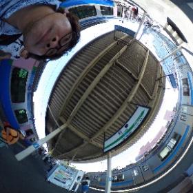 石巻駅に到着。360度で撮影してみました。