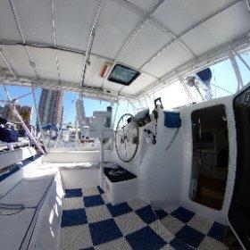 Manta 42 Catamaran Helm and Aft Seating