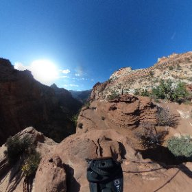 Canyon Overlook at Zion National Park. #theta360
