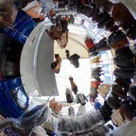 Sunday market at Cannobio Italy #theta360