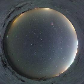 大津海岸(北海道豊頃町)で見た星空 #theta360
