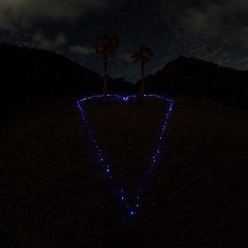 平和記念展望台のハート #theta360