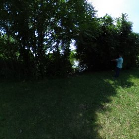 SCSU Beaver Pond, hydrology and mosquito site  #theta360