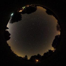 Impressive low light capability from Ricoh Theta S brings out the stars over my back yard. #theta360