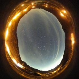 滝沢ダムの星空360°写真 #theta360