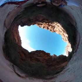 Hike into havasupai falls. #havasupai #falls #camping #backpacking #arizona #theta360