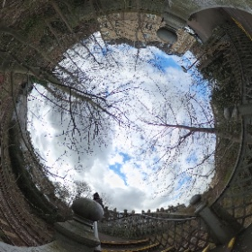 The bridge could do with a paint job. Maxwell St end. #theta360