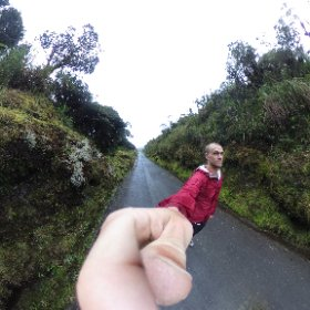Mountain pass through Parque Nacional Puracé.  #theta360