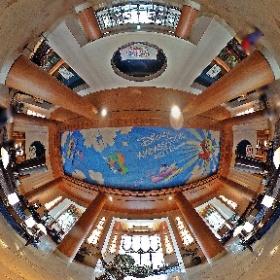 ディズニーアンバサダーホテルのロビー。全天球画像なので普段はなかなかじっくり見られない、天井の絵も良く見えます。 #TDR全天球画像