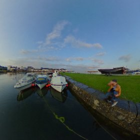 August Bank Holiday Sunday, just after the summer rain in the Claddagh Quay in Galway #Galway2020 #Galway360 #craicingalway #ThisIsGalway  #theta360 #theta360uk
