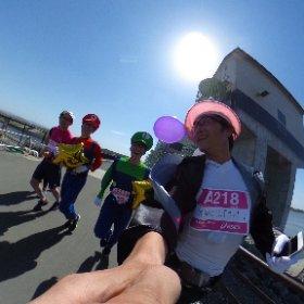 マリオ、ルイージと走る #東北風土2016 #GenkiTohoku 詳細はこちら http://i.ktri.ps/genkitohoku #theta360