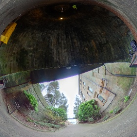 At the entrance to the Innocent Railway tunnel #theta360