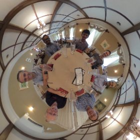 Farewell lunch for Emad. #theta360