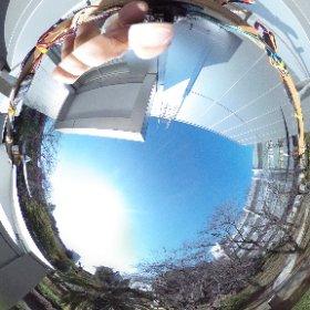 テスト画像、カメラ取り付け方向を真下に変更。 #theta360