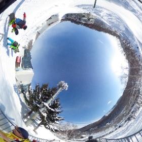 朝里川温泉スキー場 周辺 #まるちゃん写真集  #まるちゃん北海道旅行 #theta360