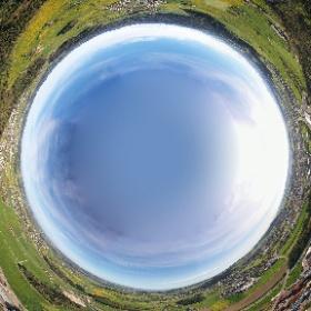 Kugelpanorama über der Region Wil West, aufgenommen in 250m Höhe