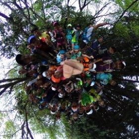 天ヶ岳 京都のトレランを楽しもうイベントで集まった 約50名の仲間達と #theta360