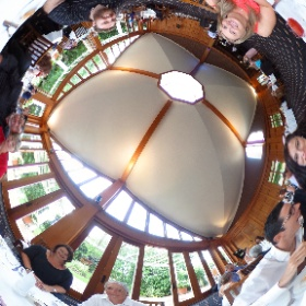 The only way to get a great photo of wedding guests at a wedding! 360° photo!