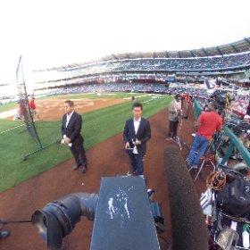 360 image- Live shots from Angels Stadium on opening day. @nbcla @marioNBCLA  #theta360