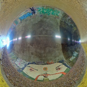 A strange artwork amongst the graffiti #theta360