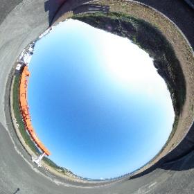 2月11日の種子島は晴天。 種子島宇宙センター 竹崎射場よりTHETA画像です。 #nvslive #h2af30 #theta360