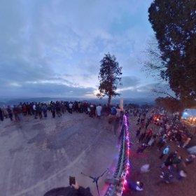 2018年元旦 初日の出 高谷山展望台 #theta360