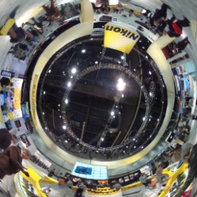 Checking out the cameras from Nikon. #CES2014