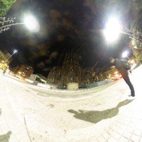 Sagrada Familia by night - #Barcellona #theta360 #theta360it