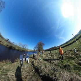 Fantastic day tree planting near Settle and Long Preston with @BurnleyCollege environment and conservation students, a credit to themselves and the college! cracking weather too, check out this 360 photo... #theta360uk