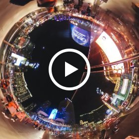 A relaxing 360 timelapse over the Las Vegas strip #ThetaS