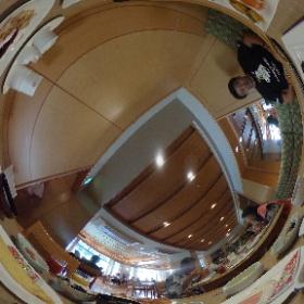 2016.10.3 山口県 湯元温泉 大谷山荘5 朝食バイキング全品♪  ※スタッフが美味しく全品頂きました。 #theta360