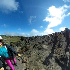 Elia Saikaly and Jane Waithers on Kilimanjaro