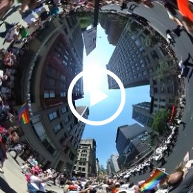 NYPD Band at the NYC Pride March #theta360