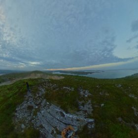 Dawn peer the Sky Road in Clifden, co. Galway #Galway2020 #craicingalway #firefly3d #theta360 #theta360uk